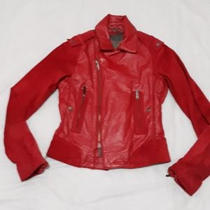 Zac Posen for Target Red Leather Suede Jacket XS